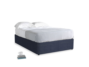 Double Store Storage Bed in Seriously Blue Clever Softie