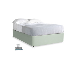 Double Store Storage Bed in Soft Green Clever Softie