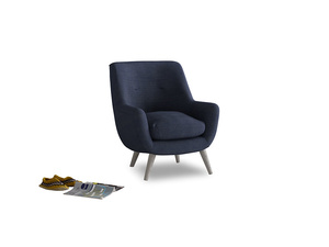 Berlin Armchair in Seriously Blue Clever Softie