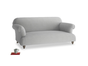 Medium Soufflé Sofa in Pewter Clever Softie