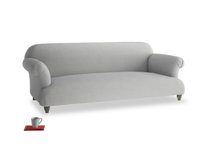 Large Soufflé Sofa in Pewter Clever Softie