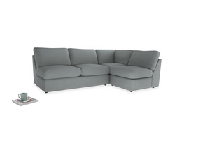 Large right hand Chatnap modular corner sofa bed in Armadillo Clever Softie
