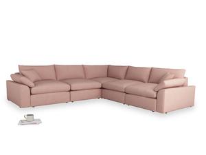 Even Sided Cuddlemuffin Modular Corner Sofa in Tuscan Pink Clever Softie