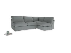 Large right hand Chatnap modular corner storage sofa in Armadillo Clever Softie