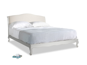 Superking Coco Bed in Scuffed Grey in Natural cotton linen mix