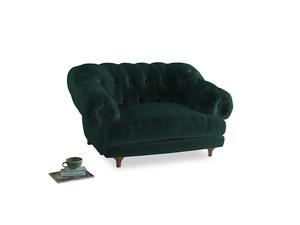 Bagsie Love Seat in Dark green Clever Velvet