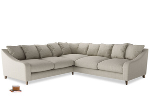 Even Sided Oscar Corner Sofa  in Thatch house fabric