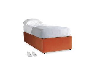Single Friends Trundle Bed in Old Orange Clever Deep Velvet