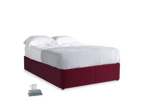 Double Store Storage Bed in Merlot Plush Velvet