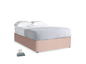 Double Store Storage Bed in Pale Pink Clever Woolly Fabric