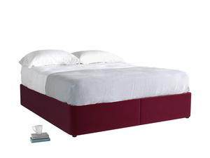 Superking Store Storage Bed in Merlot Plush Velvet