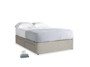 Double Tight Space Storage Bed in Grey Daybreak Clever Laundered Linen