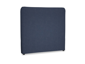 Double Ruffle Headboard in Night Owl Blue Clever Woolly Fabric