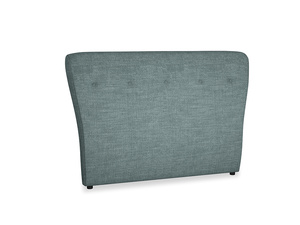 Double Smoke Headboard in Anchor Grey Laundered Linen