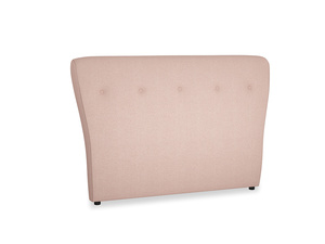 Double Smoke Headboard in Pale Pink Clever Woolly Fabric