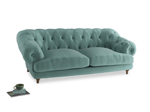 Large Bagsie Sofa in Greeny Blue Clever Deep Velvet
