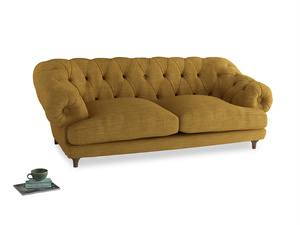 Large Bagsie Sofa in Mellow Yellow Clever Laundered Linen