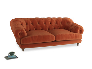 Large Bagsie Sofa in Old Orange Clever Deep Velvet