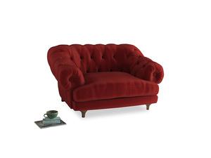 Bagsie Love Seat in Rusted Ruby Vintage Velvet