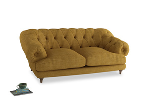 Medium Bagsie Sofa in Mellow Yellow Clever Laundered Linen