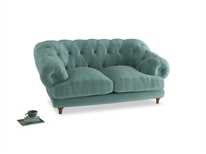 Small Bagsie Sofa in Greeny Blue Clever Deep Velvet