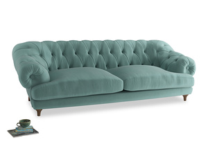 Extra large Bagsie Sofa in Greeny Blue Clever Deep Velvet