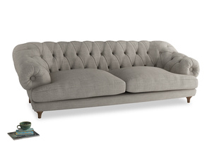 Extra large Bagsie Sofa in Grey Daybreak Clever Laundered Linen