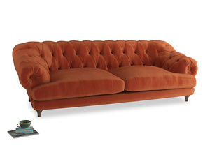 Extra large Bagsie Sofa in Old Orange Clever Deep Velvet