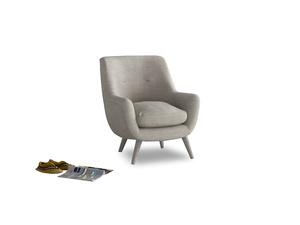 Berlin Armchair in Grey Daybreak Clever Laundered Linen