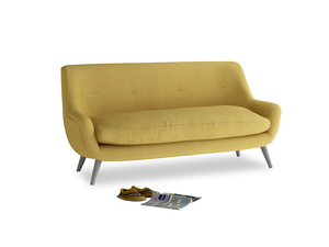 Medium Berlin Sofa in Easy Yellow Clever Woolly Fabric