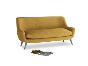 Medium Berlin Sofa in Mellow Yellow Clever Laundered Linen