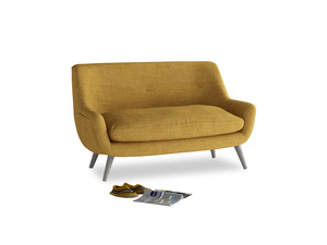 Small Berlin Sofa in Mellow Yellow Clever Laundered Linen