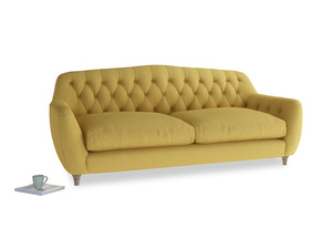 Large Butterbump Sofa in Easy Yellow Clever Woolly Fabric
