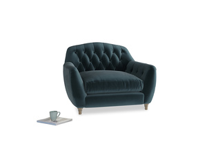 Love Seat Butterbump Love Seat in Bluey Grey Clever Deep Velvet