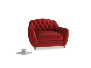 Love Seat Butterbump Love Seat in Rusted Ruby Vintage Velvet