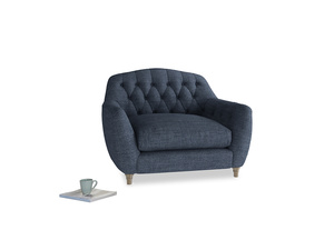 Love Seat Butterbump Love Seat in Selvedge Blue Clever Laundered Linen