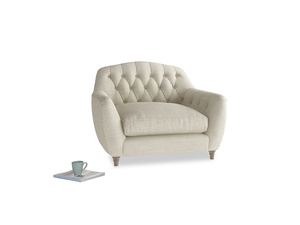 Love Seat Butterbump Love Seat in Shell Clever Laundered Linen