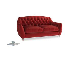 Medium Butterbump Sofa in Rusted Ruby Vintage Velvet