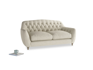 Medium Butterbump Sofa in Shell Clever Laundered Linen