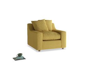 Cloud Armchair in Easy Yellow Clever Woolly Fabric
