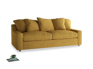 Large Cloud Sofa in Mellow Yellow Clever Laundered Linen