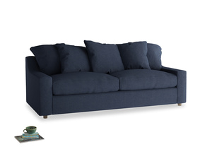 Large Cloud Sofa in Night Owl Blue Clever Woolly Fabric