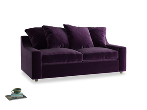 Medium Cloud Sofa in Deep Purple Clever Deep Velvet
