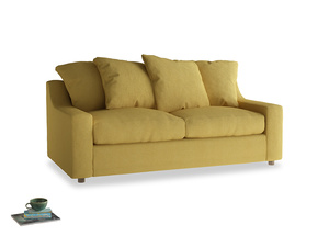 Medium Cloud Sofa in Easy Yellow Clever Woolly Fabric