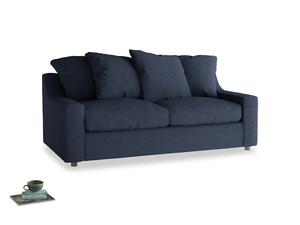 Medium Cloud Sofa in Night Owl Blue Clever Woolly Fabric