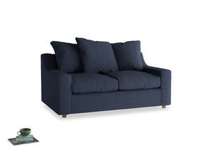Small Cloud Sofa in Night Owl Blue Clever Woolly Fabric