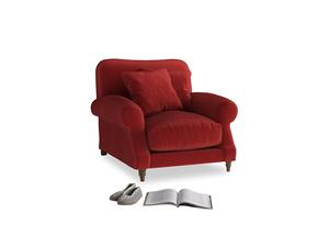 Crumpet Armchair in Rusted Ruby Vintage Velvet