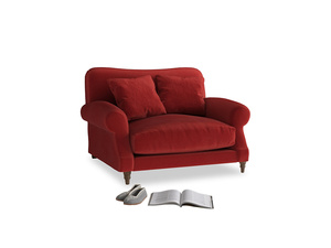 Crumpet Love seat in Rusted Ruby Vintage Velvet