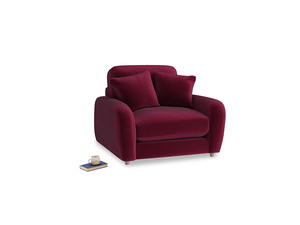 Easy Squeeze Armchair in Merlot Plush Velvet