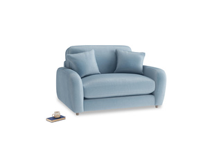 Easy Squeeze Love Seat in Chalky blue vintage velvet